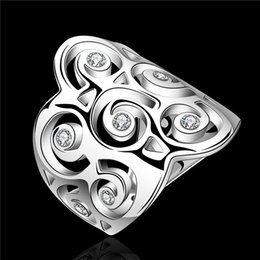 Wholesale 925 Sterling Ring Price - 2015 new design 925 sterling silver finger ring with zircon fashion party jewelry for a woman Top quality factory price free shipping