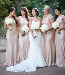 сексуальная прическа Скидка 2015 кружева блесток платья подружки невесты сексуальный экипаж декольте кепка рукава подходят Flare фрейлина платье свадебное платье для женщин вечерние платья