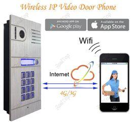 Wholesale Wireless Door Access Control - Global Wireless WIFI IP Mobile Video Door Phone via Smartphone Control remote door access by you iphone,andriod smartphone