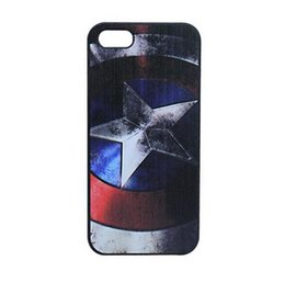 Wholesale Iphone 5s Captain America Case - Wholesale America Captain Anchor Skin Design Hard Plastic Mobile Protective Phone Case Cover For Iphone 4 4S 5 5S 5C 6 6plus