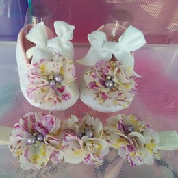 Wholesale Purple Ballerina Shoes - Wholesale-Ivory newborn Booties baby girls shoes toddler;sapatos de bebe menina baby shoes ballerina;girls baptism set