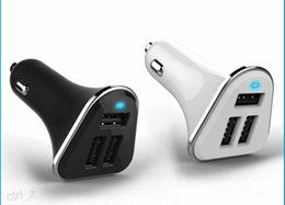 Wholesale Tab Uk - 3 Port USB Dog Bone Car Charger For iPhone 6 6s plus Samsung s6 note 5 HTC Cellphones tab s2 ipad 4.1A