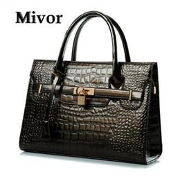 Wholesale Ivory Alligator - luxury brand new women lady tote handbag designer lock fashion shoulder bag Women's Handbag PU Leather Shoulder Bags Messenger Bag 10 colors
