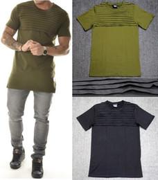 Wholesale Bikers T Shirts - mens t shirts fashion 2016 tshirt homme men army green t shirt swag clothes hip hop t-shirt streetwear biker tees Fold style