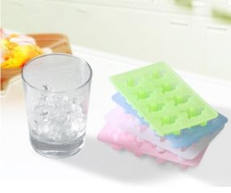 Wholesale Unique Ice Trays - Novelty Silicone Ice Cube Trays Mini Colorful Ice Tray Molds Unique Lover Patterns Design Ice Trays