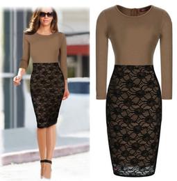 Wholesale Lace Dress Xxl - New arrival Women Sexy Dress Slim lace dress with Long Sleeve And Zipper size S-XXL JJD2118