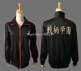 Wholesale School Uniform Costumes Cosplay - Iwatobi Swim Club school uniform costume Rin Matsuoka Deluxe Edition Uniform Jacket Cosplay with Samezuka Academy Logo