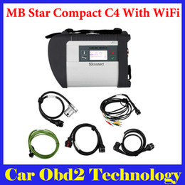 Wholesale Mb Star Compact C4 - High Quality New SD Connect MB Star Compact C4 MB star C4 Multiplexer With WIFI For Cars Trucks Multi-Langauge by DHL Shipping