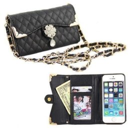 Wholesale Iphone Leather Purse - S5Q Flip PU Leather Purse Case Thin Cover Bling Skin Card Bags For Iphone 6 Plus AAADZU
