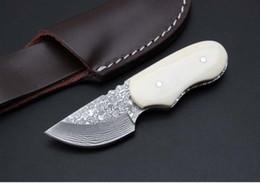Mini cuchillo de hoja fija hoja de acero de damasco Cuchillo de hueso Cuchillos de bolsillo cuchillo plegable para acampar al aire libre EDC herramienta Regalos de Navidad envío gratis desde fabricantes