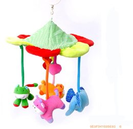 Wholesale Activity Spiral - Wholesale-8 music Brand new Cute Spiral Activity Stroller Car Seat Cot Babyplay Travel Toys newborn Baby Rattles Toy Mobiles