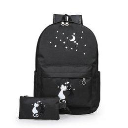 Wholesale bird locked - FLYING BIRDS School Bags For Teenagers Girls carton Backpacks 2pcs set fashion waterproof School Bag Lady Bookbag Travel bags