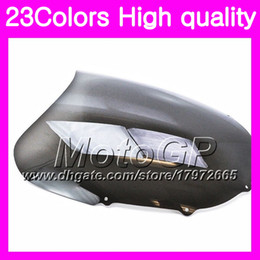 Wholesale Kawasaki Zx11 - 23Colors Windscreen For KAWASAKI NINJA ZX11R 1993 1994 1995 ZX-11R ZZR1100 ZX11 R 1996 1997 Chrome Black GPear Smoke Windshield