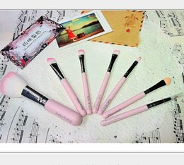 Wholesale Goat Big - 2013 Big Discount !! Hello Kitty 7 pcs makeup brushes professional a cosmetic brush sets makeup tools suit free shipping