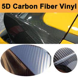 Wholesale Gloss Black Car Vinyl Wrap - Size:1.52*20M Ultra Gloss 5D Carbon Fibre Vinyl Wrap With 4D texture For Car Wrap With Air Release Glossy Carbon Fiber Sticker