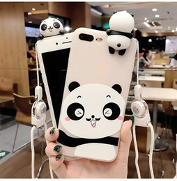 Wholesale Panda Phone Case Iphone - New 3D Soft Cute Panda Phone Case For iPhone X case 8 7 6S 6 Plus Lovely Cartoon Silicone Cover For iPhone 6 6S 7 8 Plus phone case