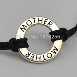 Wholesale Wholesale Love Word For Bracelet - 100 pcs a lot zinc alloy rhodium plated Mother word love bracelets for mother's gift