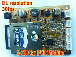 Wholesale Dvr Ch Car - 1-CH car dvr module D1 resolution Mpeg-4 compressive format 32GB sd card supported mini size 60*45mm