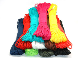 Wholesale Parachuting Cord - 10pcsx100ft 550 paracord Parachute Cord Lanyard Rope survival paracord Mil Spec Type III 7 Strand 50 colors for option