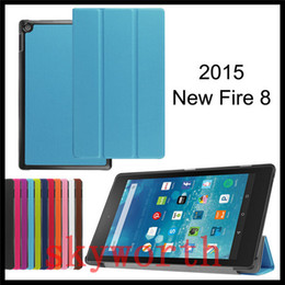 Wholesale Screen Cover For Kindle Fire - For Amazon Kindle Fire HD7 HD8 HD10 2015 leather case stand Folio Flip Ultra Slim Smart Cover kindle HD 7 inch Ebook Cases