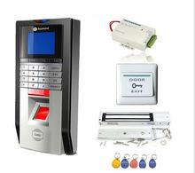 Wholesale rfid door lock kit - Bio Single Door Fingerprint and RFID Card Access Control System & Time Attendance Kits+Magnetic lock