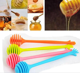 Wholesale Honey Homes - Honey Dipper Silicone Hand Stirring Bar Home Kitchen Assistant Home Use Coffee  Tea  Juice Tools With Retail Box