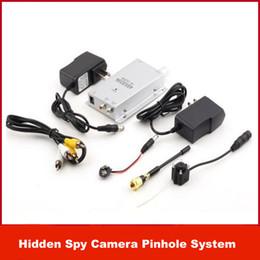 Wholesale Cheap Mini Video Cameras - cheap economic Hidden Pinhole Mini Wireless Nanny Spy Camera CCTV Security Video Surveillance kit Pinhole System NEW