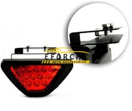 Wholesale Wholesale Emergency Warning Lights - New 12 LED Red flashing tail brake light bulbs Lamp car Reverse light strobe Flash emergency warning lights DC 12V