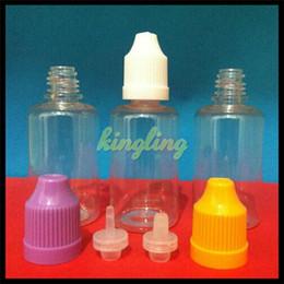 Wholesale Eliquid Empty - Colorful PET Eliquid Bottle 5ml 10ml 15ml 20ml 30ml Empty E Liquid Plastic Dropper Bottles Child Proof Bottle caps Needle Tips E liquid