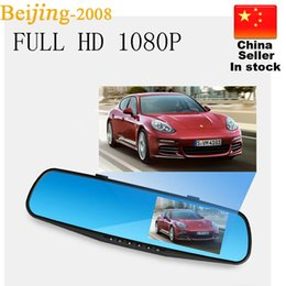 Wholesale Japanese Video Hot - Hot selling 4.3'' HD Camcorder Car Rearview Mirror Camera 140 degree Video Recorder Car DVR Dash Cam G-Senor 010230