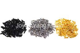 Wholesale Black Machine Screws - Wholesale- 100pcs Chrome Black Gold Guitar Screws 2.1*10mm For Guitar Bass Machine Head Tuner Tuning Pegs