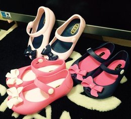 Wholesale Girl Bow Flats - 2016 Hot Sale Sale Elsa Shoes Mini Melissa Ultra Girl Bow Flat Shoes For Girls Crystal Jelly Melisa Children Princess Sandals