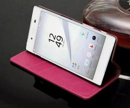 2019 designs de portefeuille cool Design cool pour Sony Z5 Plus Couverture de portefeuille Wallet de luxe Flip Ultra-mince mince Etui en cuir véritable pour Sony Xperia Z5 Premium / Z5 Plus promotion designs de portefeuille cool
