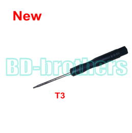 Wholesale tools screw drivers - New Stype Black T3 Screwdriver Torx Screw Drivers Open Tool for Hard Disk Circuit Board Phone Opening Repair 3000pcs lot