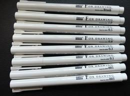 Canada 8 pcs / lot Japon Marvy eau pigmentée encre Gel Stylo Croquis Stylo Bande Dessinée Fine Ligne Stylo Crochet Ligne Stylo Main Animation dessins de dessins animés preuve de l'eau Offre