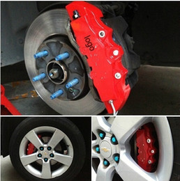 Wholesale Disc Caliper - 4PCS Universal Car Auto Disc Brake Caliper Covers Front And Rear RD(have logo)