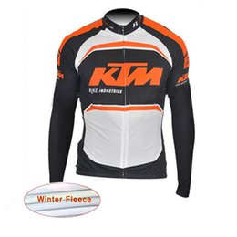 Wholesale Cycling Team Winter Jacket - 2017 KTM tour de france Cycling Jersey Men Pro Team Winter thermal fleece Long Sleeve jacket maillot ciclismo quick dry Bike Clothing C0133