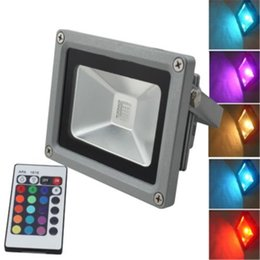 Wholesale ir floodlight outdoor - Outdoor LED Floodlight 10W 20W 30W 50W RGB Led Flood Light Colour Changing Wall Flood Lamp IP65 Waterproof+24key IR Remote Control