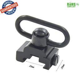 Wholesale Sling Qd Picatinny - Easily QD Heavy Duty Quick Detach Push Button Sling Swivel Set Picatinny Mount 20mm