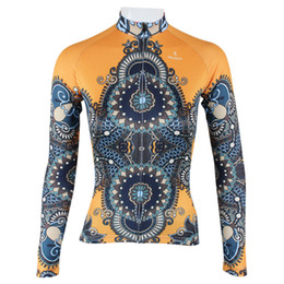 Wholesale Cycling Sleeves Winter Wear - Wholesale-Hot Sale!!! Yellow robe Womens Winter cycling jersey 2015 Sportswear Long sleeve Cycling wear Bicyle jersey Cycling clothing