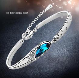 Wholesale Genuine Swarovski Jewelry - New Genuine Swarovski Elements - Glass Slipper Bracelet Austrian Crystal Bracelet Multicolor Selection Korean Fashion Silver Jewelry