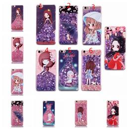 Wholesale Cartoon Girls Phone Case - New Love cartoon girls pattern smart phone case bling fluid liquid TPu phone case for iphone6s,6splus,7,7plus,8,8plus