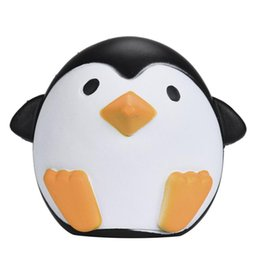 Wholesale Cute Penguin Cartoons - Wholesale- Fun stress reliever Toys Cartoon Animal Decompression Dolls Cute Penguins Slow Rising Cream Scented Decompression #XT