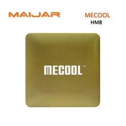64 bit android tv Promo Codes - MECOOL HM8 Android TV Box Amlogic S905X Quad Core 64 Bit Android 6.0 Smart Top Box Mini PC 1GB+8GB 4K TV WiFi Media Player