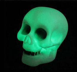 Wholesale Light Emitting Diode Lighting - 100pcs lots Supplies Bar Decoration LED skeleton shape bable lamp skull shape colorful night light Light Emitting Diode