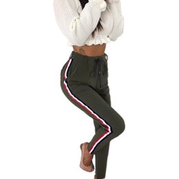 body fit clothing Promo Codes - Wholesale-Basic Women Pants High Waist Autumn Work Clothes For Womens Ankle Length Body Slim Fit Trousers Jumper Track WS3732Z