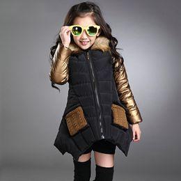 Casacos de inverno roupas de princesa meninas on-line-Moda parkas menina roupas de marca criança roupas de inverno multicolor crianças outerwear casacos princesa meninas jaqueta desgaste das crianças
