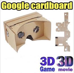 Atacado diy google papelão vr realidade virtual 3d óculos espelho tempestade kit diy para iphone 6 6 plus 5 5S 4 samsung s6 borda de Fornecedores de vendo óculos por atacado
