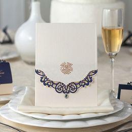 Wholesale Wedding Invitation Sky Blue - Fashion Blue Elegant Laser Cut Wedding Invitations Laser-cut Wedding Invitation Cards with Free Shipping Convites De Casamento