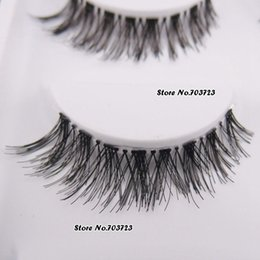 Wholesale Hw Fashion - Wholesale-5 Pairs Fashion Super Thick Black False Eyelashes Fake Eye Lash Clear Band HW-8
